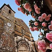 Church And Roses Art Print