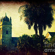 Church At Fort Moultrie Near Charleston Sc Art Print