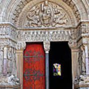 Church Entrance Arles France Art Print