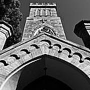 Church Facade In Black And White Art Print