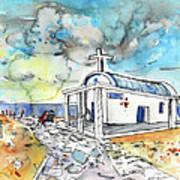 Church In Cape Gkreko In Cyprus Art Print