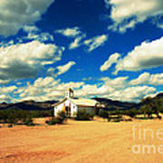 Church In Old Tuscon Arizona Art Print