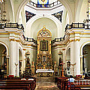 Church Interior In Puerto Vallarta Art Print