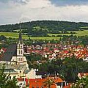 Church Spire In The Old Town Cesky Art Print