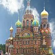 church St. Petersburg Russia Art Print