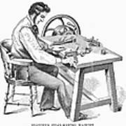 Cigar-making Machine, 1859 Art Print
