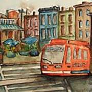 Cincinnati Streetcar Art Print