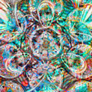 Circles Of Life Art Print by Mo T