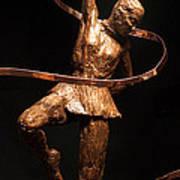 Citius Altius Fortius Olympic Art Gymnast Over Black Art Print