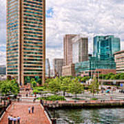 City - Baltimore Md - Harbor Place - Baltimore World Trade Center  Art Print