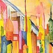 City   Art Print by Katina Cote