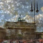 City-art Berlin Brandenburger Tor II Art Print by Melanie Viola