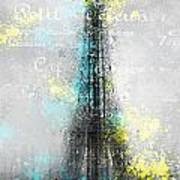 City-art Paris Eiffel Tower Letters Art Print