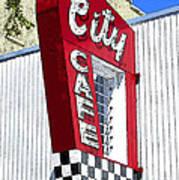 City Cafe Art Print