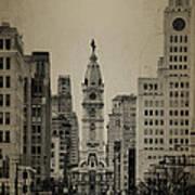 City Hall From North Broad Street Philadelphia Art Print