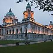 City Hall Illuminated Belfast, County Art Print