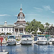 City Hall Kingston Ontario Canada Art Print by Peggy Holcroft