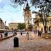 City-hall Krakow Art Print