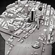 City Model Of Sydney, 1969 Art Print