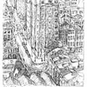 City Scape Print by Elizabeth Carrozza