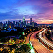 Cityscape Of Kuala Lumpur Art Print