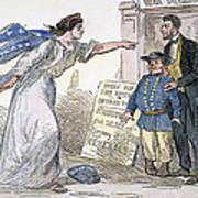 Civil War Cartoon Art Print