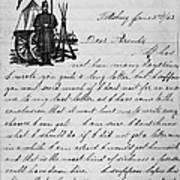 Civil War: Letter, 1862 Art Print