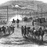 Civil War: Potomac Bridge Art Print