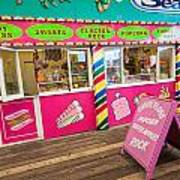 Clacton Pier Shop Art Print