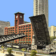 Clark Street Bridge Chicago - A Contrast In Time Art Print by Christine Till