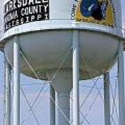 Clarksdale Water Tower Art Print