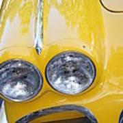 Classic Antique Chevy Corvette - Detail Art Print
