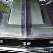 Classic Camaro Ss Hood Cowl Art Print