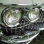 Classic Car - White Grill 1 Art Print