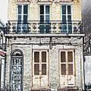 Classic French Quarter Residence New Orleans Colored Pencil Digital Art Art Print