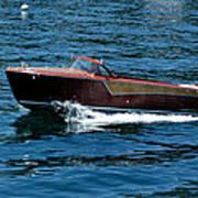 Classic Wooden Boat Art Print