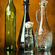 Classy Glass Art Print by Peter Chilelli