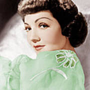 Claudette Colbert, Ca. 1950 Art Print by Everett