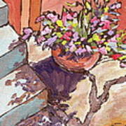 Clay Pot Print by Sandy Tracey