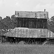 Clewis Family Tobacco Barn II In Black And White Art Print