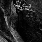 Cliff Dancers Black And White Art Print