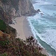 Cliffs And Surf On The California Coast Art Print