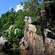 Cliffs On The St Croix Art Print