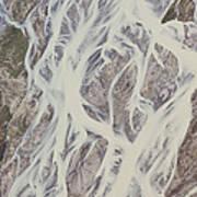 Cline River Showing Heavy Siltation Art Print