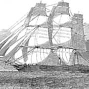 Clipper Ship, 1850 Art Print