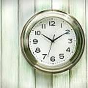 Clock On The Wall Art Print by Sandra Cunningham