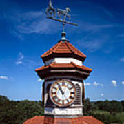 Clock Tower And Weathervane, Longview Art Print by Everett