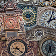 Clocks Of Paris Art Print