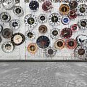 Clocks On The Wall Print by Setsiri Silapasuwanchai