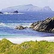 Clogher Beach, Blasket Islands, Dingle Art Print